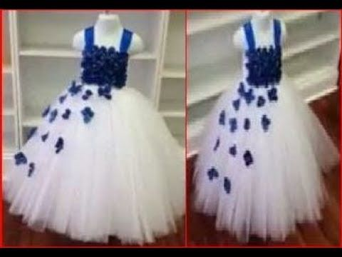 74812b79a655 Baby girl party wear dress frock cutting and stitching - YouTube ...