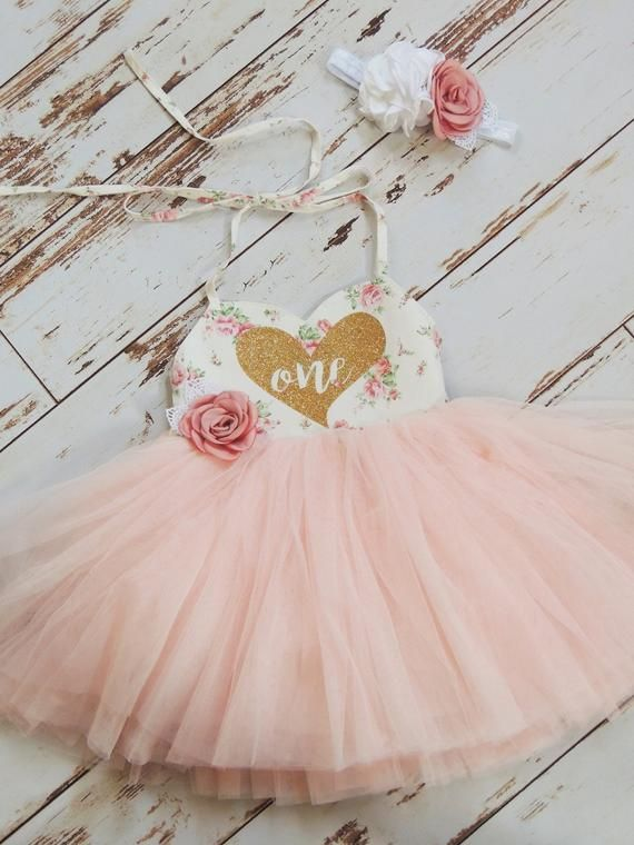 093fd253deea First Birthday Outfit Birthday Dress Floral Pink Tutu Dress Boho ...