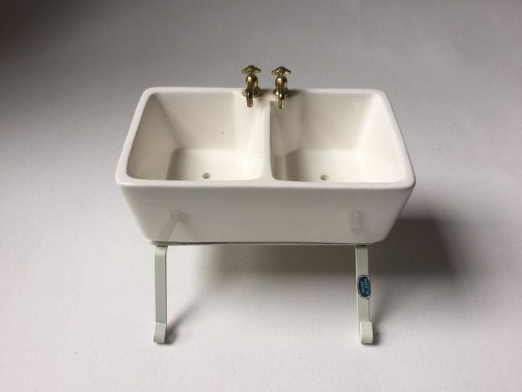 Vintage Dollhouse Miniature Ceramic Kitchen Sink