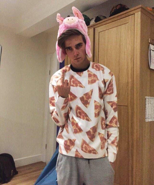 Joe sugg pizza hoodie
