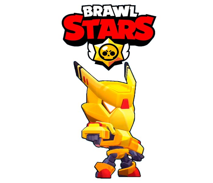 gold mecha crow design  brawl stars art printzarcus11