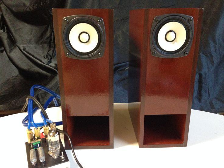 fostexのFE83EnをバックロードホーンBW-800に組み込んで塗装した状態。