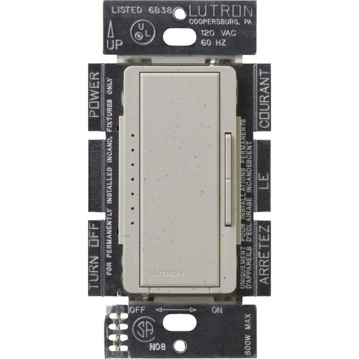 Maestro 150-Watt Single-Pole/3-Way/Multi-Location Digital CFL-LED Dimmer - Stone (Grey)