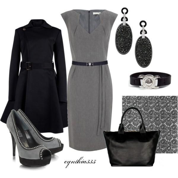 Black & Gray business attire