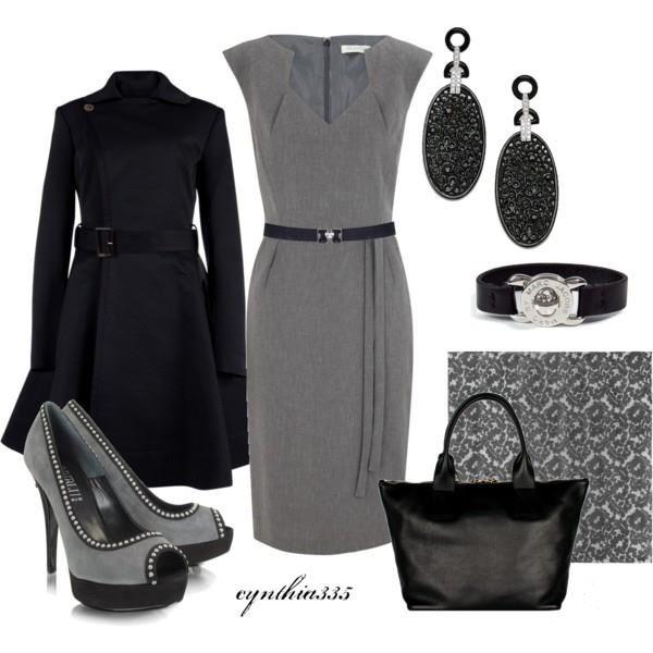 Black & Gray business attire