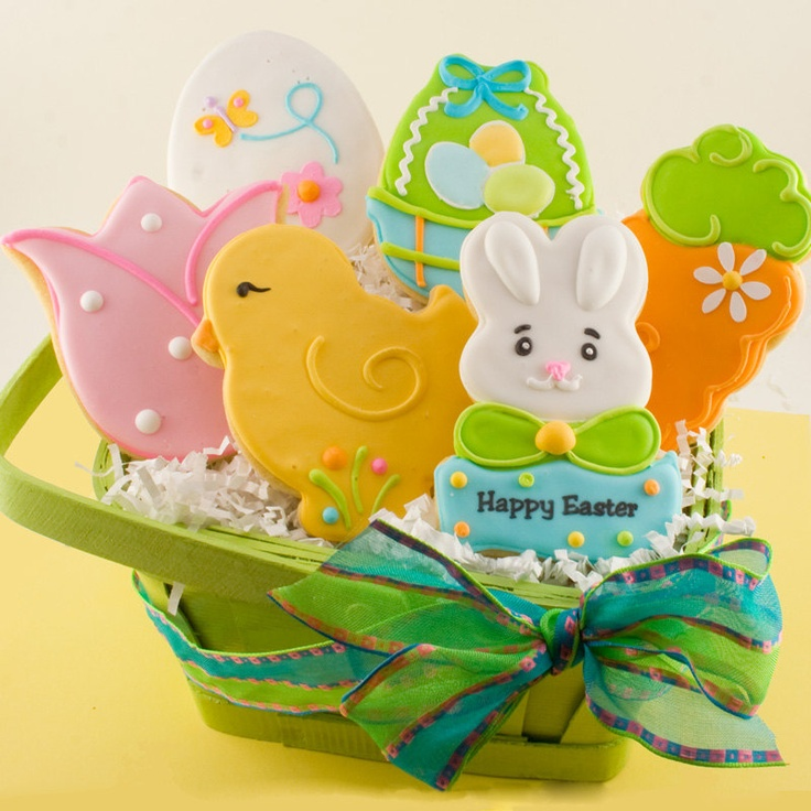Easter Cookies, Decorated Bunny and Chick Sugar Cookies