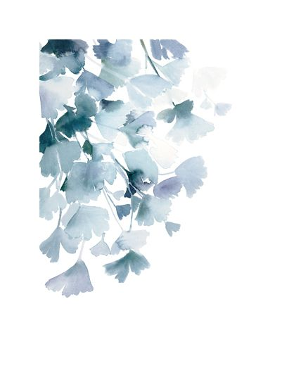 art prints - Blue Ginkgo by Yao Cheng