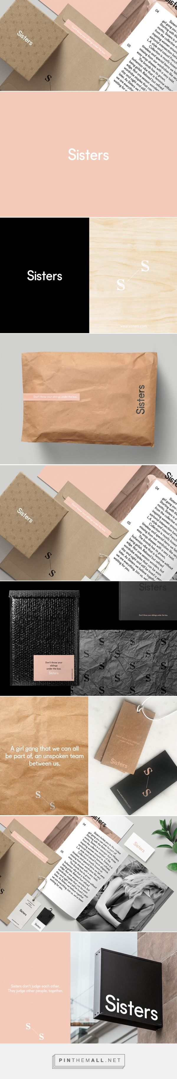 Packaging and branding for Sisters founded by Senem Mursaloğlu via Mindsparkle Mag. PD