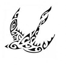 Disegno per tatuaggio rondine maori