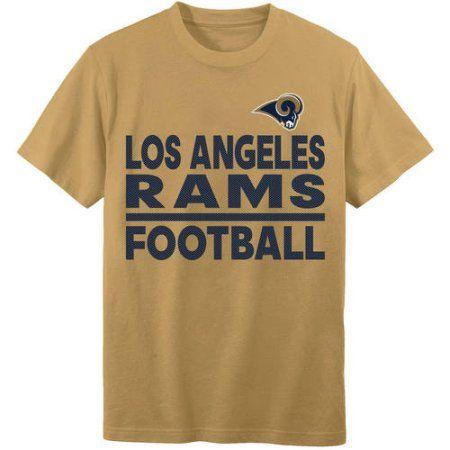 NFL Los Angeles Rams Youth Short Sleeve Alternate Tee, Boy's, Size: Medium, Gold