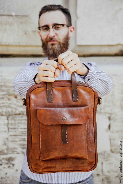Мужские сумки ручной работы. Ярмарка Мастеров - ручная работа. Купить Brick Brown Bag. Handmade. Кожаные сумки