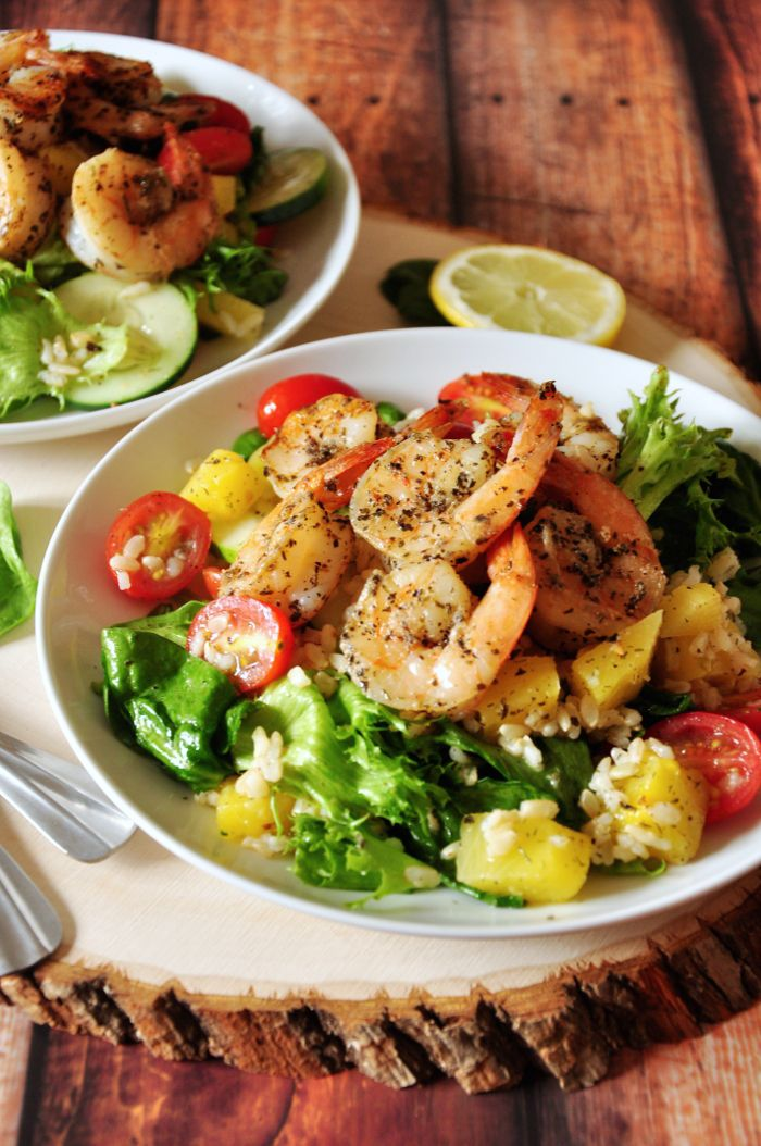 Grilled Shrimp Brown Rice Combo