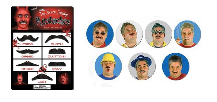 Set of 7 Movember Moustaches for just $10! - Choose from 4 Different Styles - Tax Included