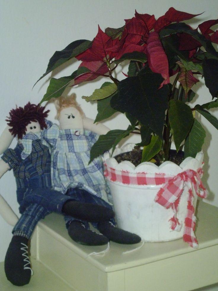 christmas star with boy and girll