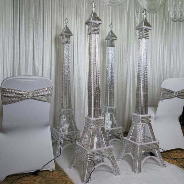 5ft Color Changing Led Metal Eiffel Tower In 2021 Led Lights Wedding Eiffel Tower Centerpiece Tower Centerpiece
