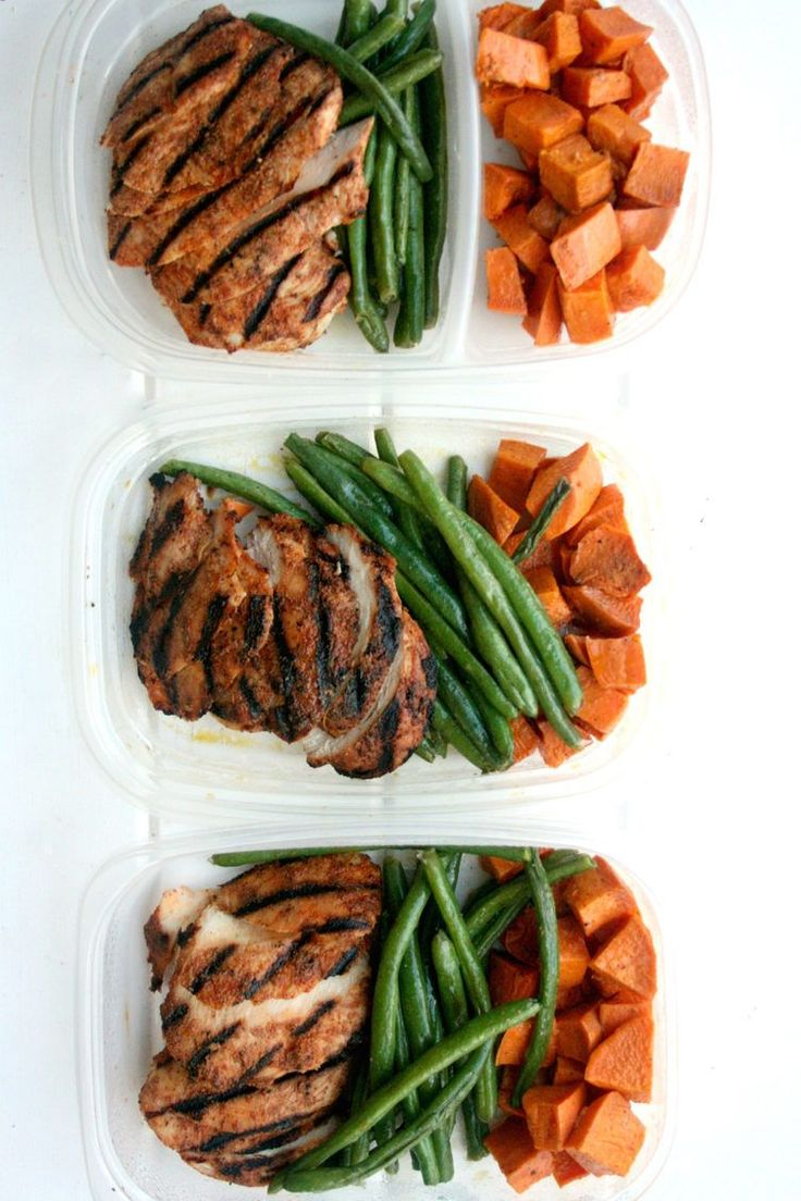 14. Leftover Meal Prep Chicken, Sweet Potato, and Green Beans http://greatist.com/fitness/50-awesome-pre-and-post-workout-snacks