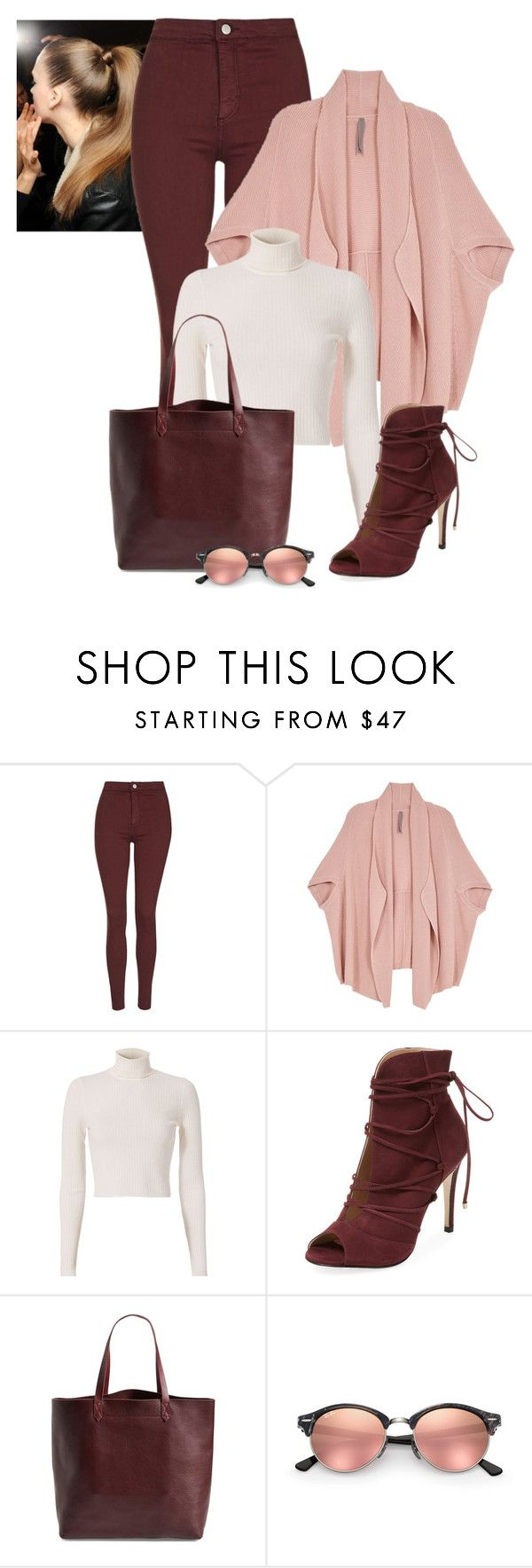 """2016/946"" by dimceandovski ❤ liked on Polyvore featuring Topshop, Melissa McCarthy Seven7, A.L.C., Elorie, Madewell, Ray-Ban and plus size clothing"