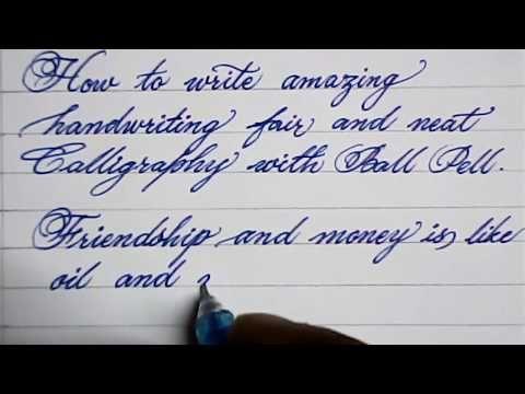 Howto Write in Wonderful Cursive Handwriting
