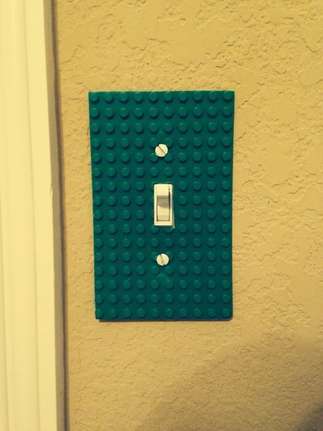 $0 DIY Lego Light Switch Cover