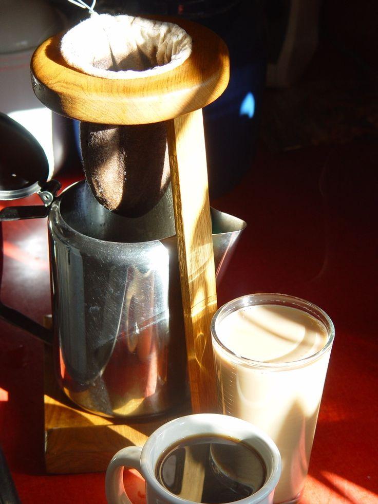 The Costa Rican coffee sock - traditional coffee maker - Chorreador