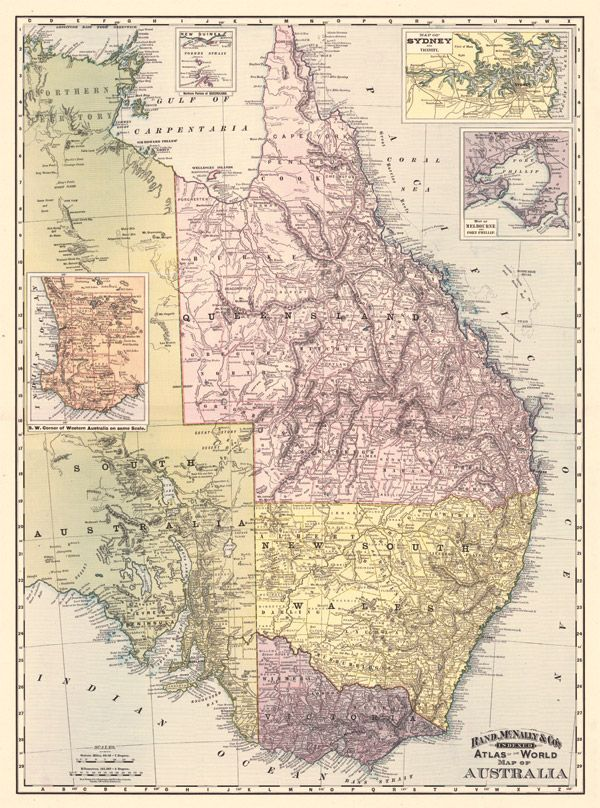 148 best historical maps images on pinterest chart historical eastern australia 1892 vintage map gumiabroncs Image collections