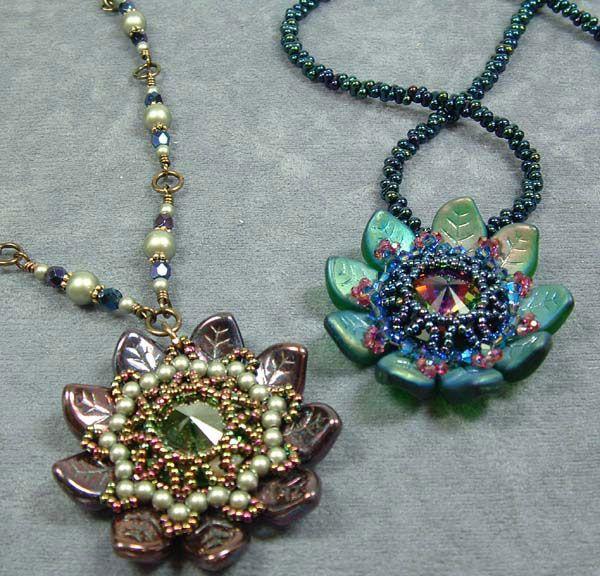 251 best pendants images on pinterest bead jewellery bead jewelry leayn tabili mandala pendant using curved leaf beads netting and an 18mm swarovski rivoli stone mozeypictures Choice Image