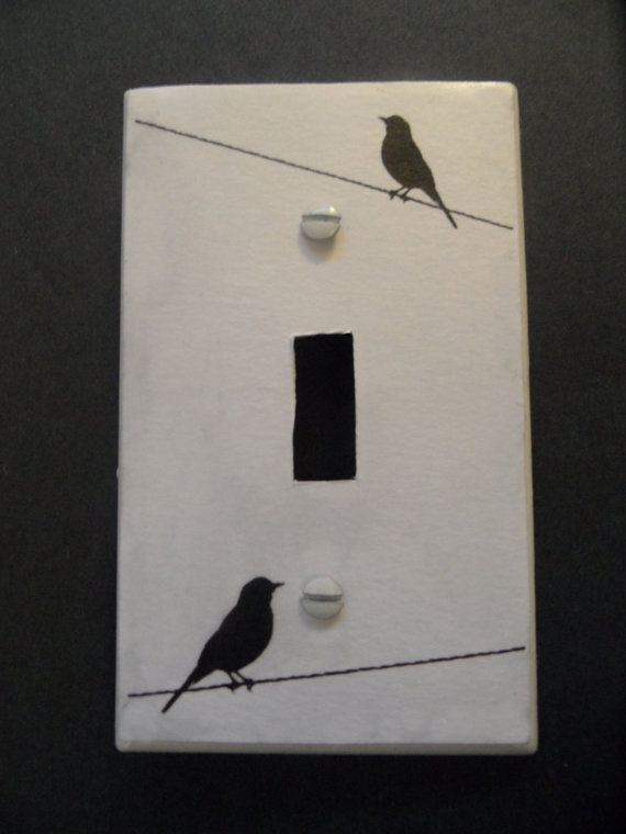 custom made bird silhouette light switch cover. $4