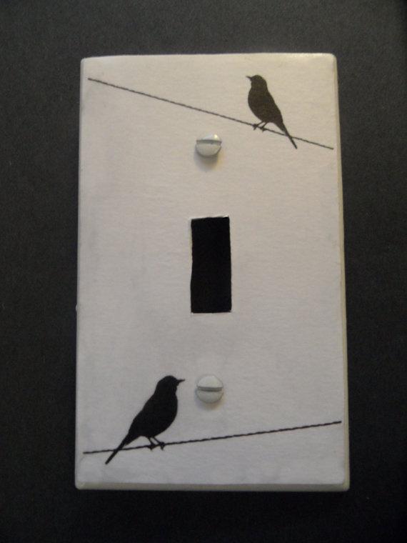 custom made bird silhouette light switch cover. $4