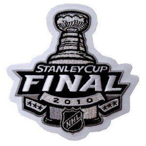 """2010 NHL Stanley Cup Final Patch by National Emblem. $4.75. This is the patch for the 2010 Stanley Cup Finals. As worn by the players during the Cup. This patch is designed for commemorative, nostalgic display, and collection. The patch measures approximately at 4"""" wide X 4"""" tall. Patch comes fully packaged and sealed."""