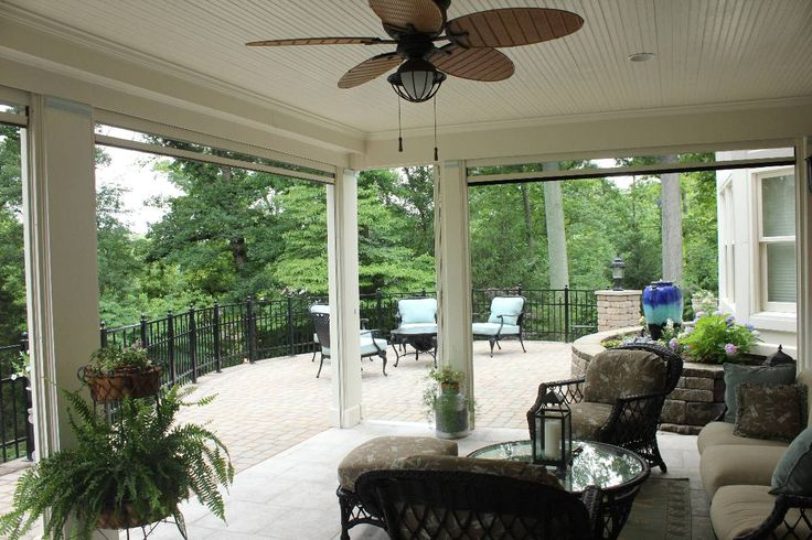 "Screened Porches CAN be made with retractable screens. You can ""have your cake and eat it too"" with retractable screens bedazzling your outdoor space.."