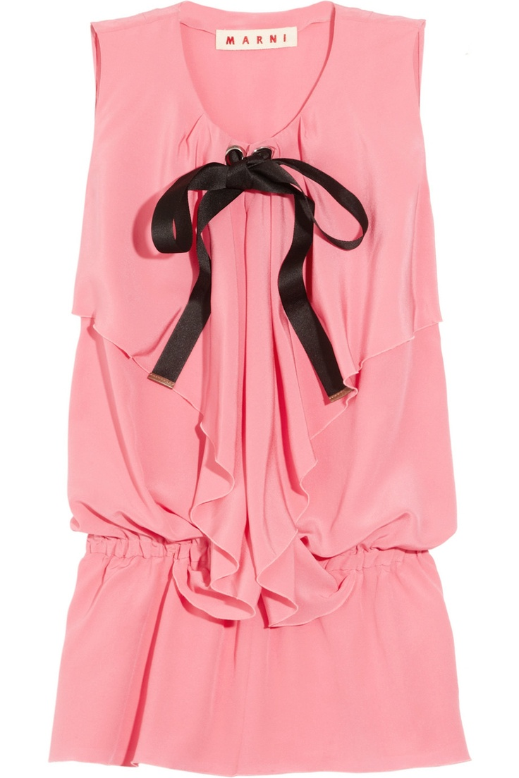 Draped silk-blend top by Marni