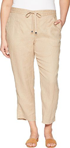 3092f834d7255 Lauren Ralph Lauren Womens Plus Size Straight Linen Pants