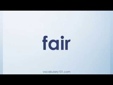 fair Meaning and Example Sentence | Learn English Vocabulary Word with Definition