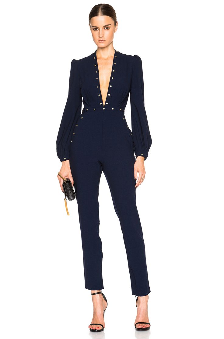 Image 1 of Zimmermann Esplanade River Jumpsuit in French Navy