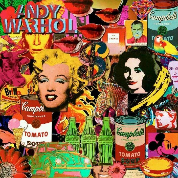 Andy Warhol Pop Art Collage.