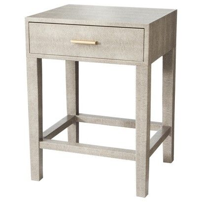 Best Threshold™ Gray Faux Snake Skin Accent Table With Drawer 400 x 300