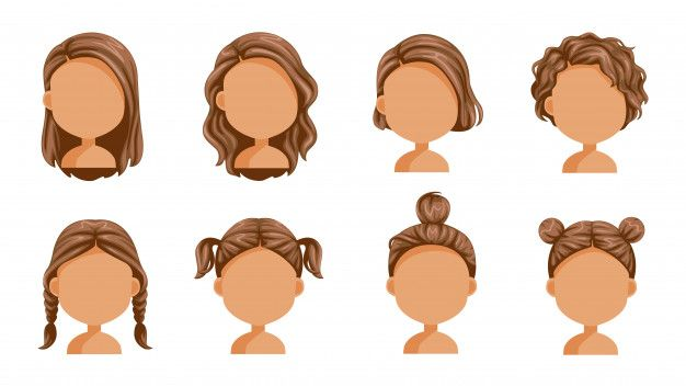 Bella Acconciatura Little Girl Hairstyles Hair Illustration Hair Vector