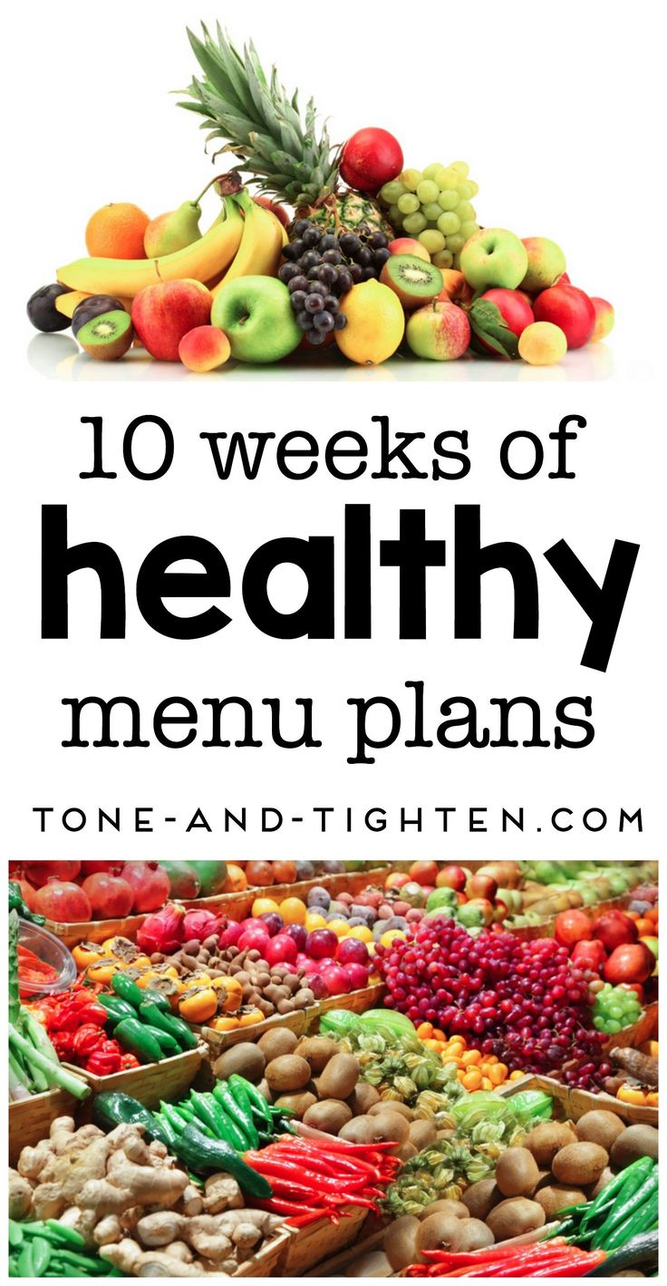 10 weeks of healthy menu plans on https://Tone-and-Tighten.com Guide to Healthy Eating Using the Food Pyramid