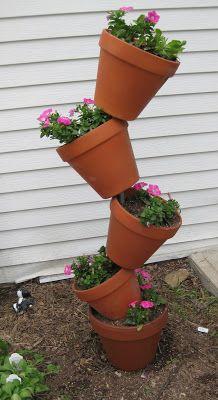 John Deere Mom: Tipsy Flower Pot Tower