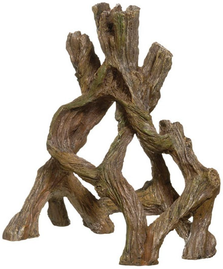 Give your aquarium a more natural feel with Marina Mangrove Root Aquarium Décor. This intricately designed aquarium accessory is a realistic replica of a mangrove root. Fish will enjoy taking shelter and swimming in and out of the roots. It blends in effortlessly with any background or aquascape and is made of nontoxic polyresin, so it's safe for fish and won't affect the water chemistry.