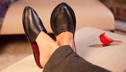 Alfred Stadler leather slippers