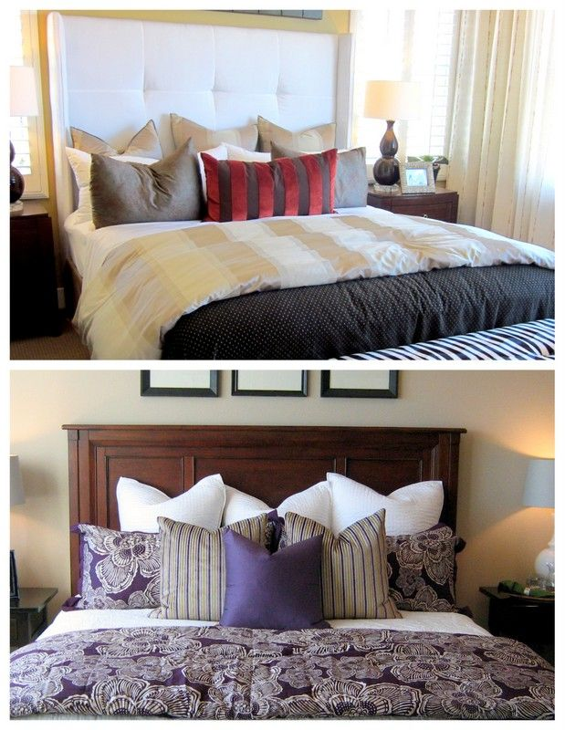 Various ways to arrange pillows on the bed decorating tips - 25 Best Ideas About Bed Pillow Arrangement On Pinterest