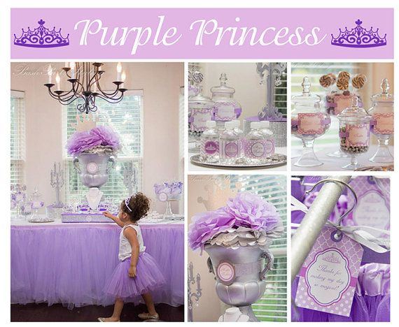 Sofia the first birthday inspired purple princess birthday for 1st birthday decoration packages