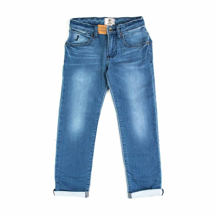 Timberland - Jeans Chiaro Regular Fit - Jeans chiaro con leggero effetto delavè firmato Timberland Junior della nuova Collezione Primavera Estate 2018 - Linea di #abbigliamento #Bambino e #Teenager. #Timberland #style #shopping #style #ragazzo #boy #annameglio #moda
