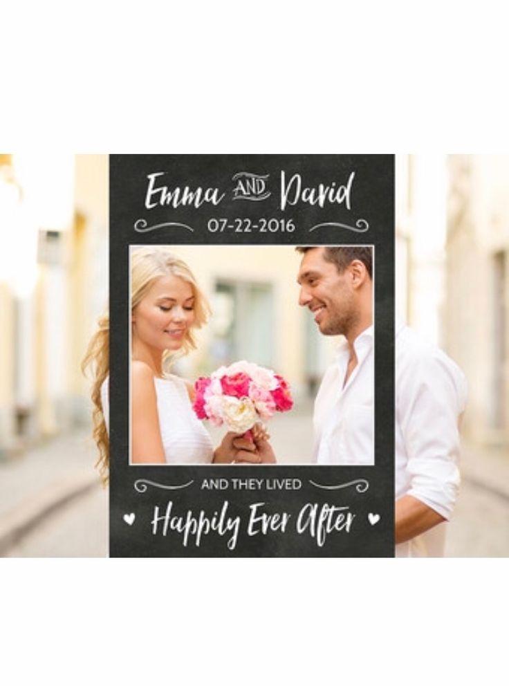 Chalkboard Wedding Photo Booth Frame Wedding Photo