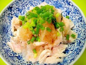 柚子胡椒風味☆ささみのおろしポン酢和え