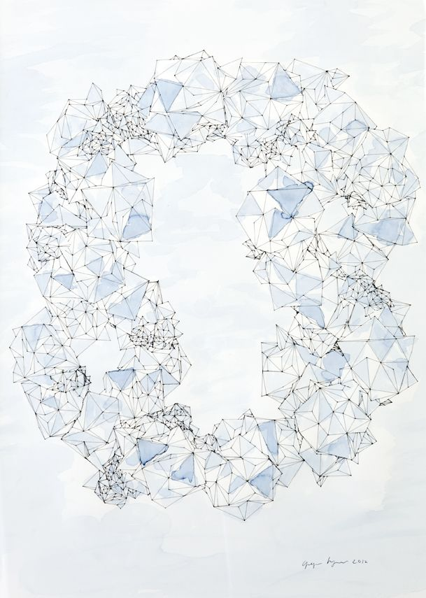 """Drawing of """"Cloud Structures"""""""