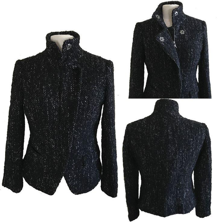 BANANA REPUBLIC Wool Blend Fitted Bouclé Zip Jacket #BananaRepublic #FittedJacket #Business