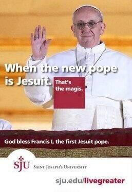 #Jesuit #newpope @Saint Joseph's University ...