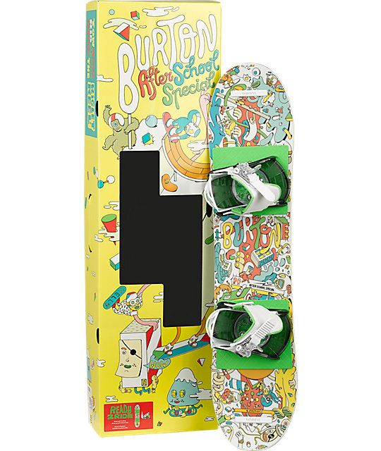 A great beginner package that comes mounted with Burton bindings with a Flat Top bend with Easy Rider for a virtually catch-free ride.
